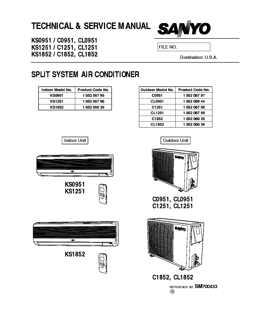 sanyo ks1251 manual