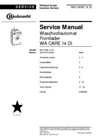 BAUKNECHT WAK 6650-D Service Manual download, schematics ...