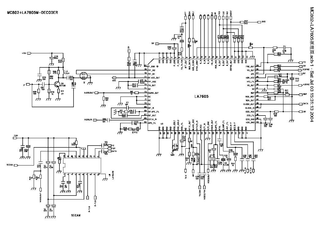 lcd tv diagram sfg05 circuit diagram