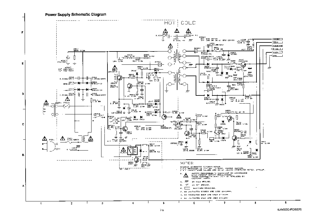 funai tv schematic diagram