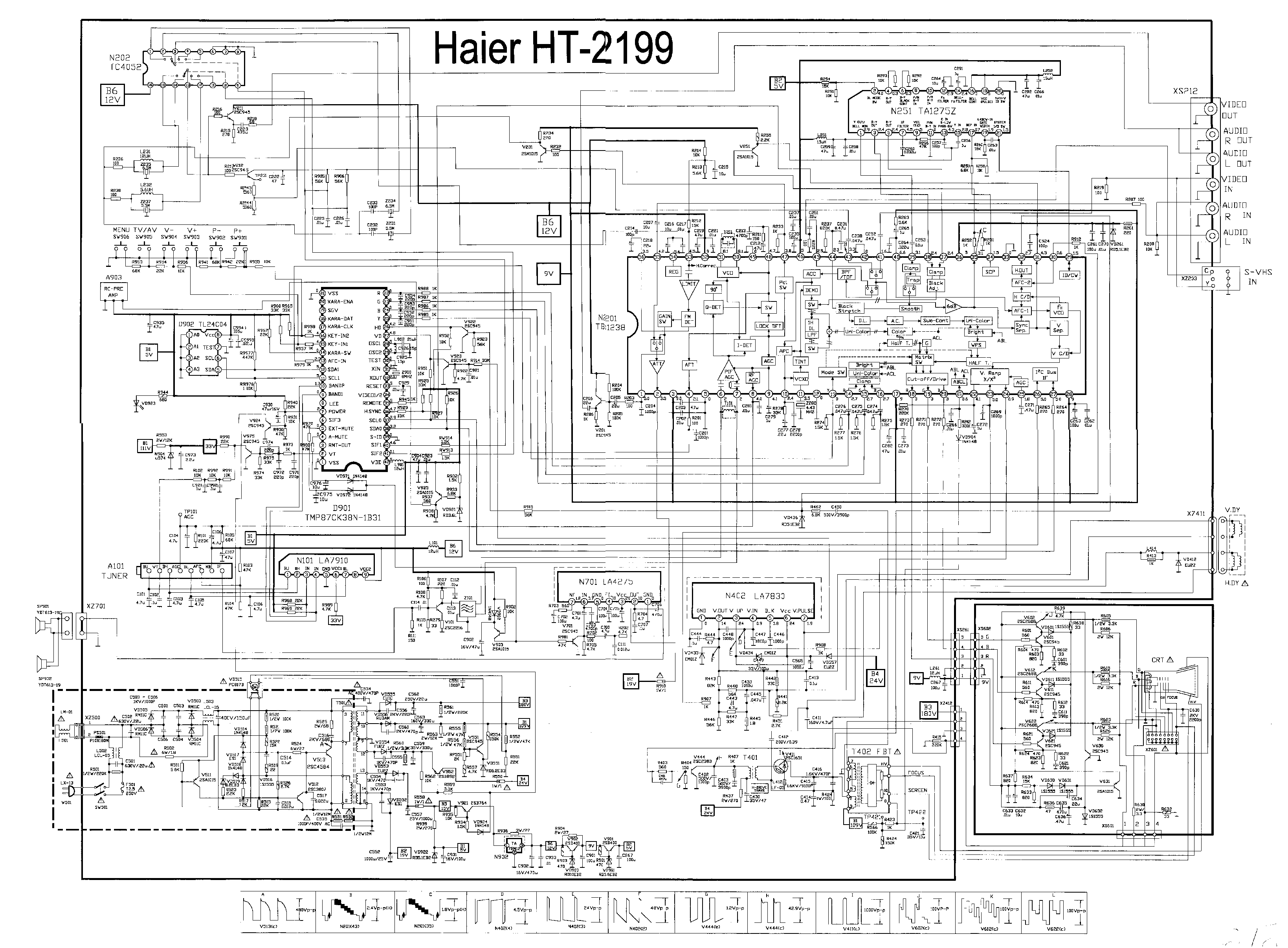 haier 21f9d circuit diagram