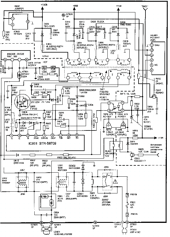 samsung flat screen tv diagram
