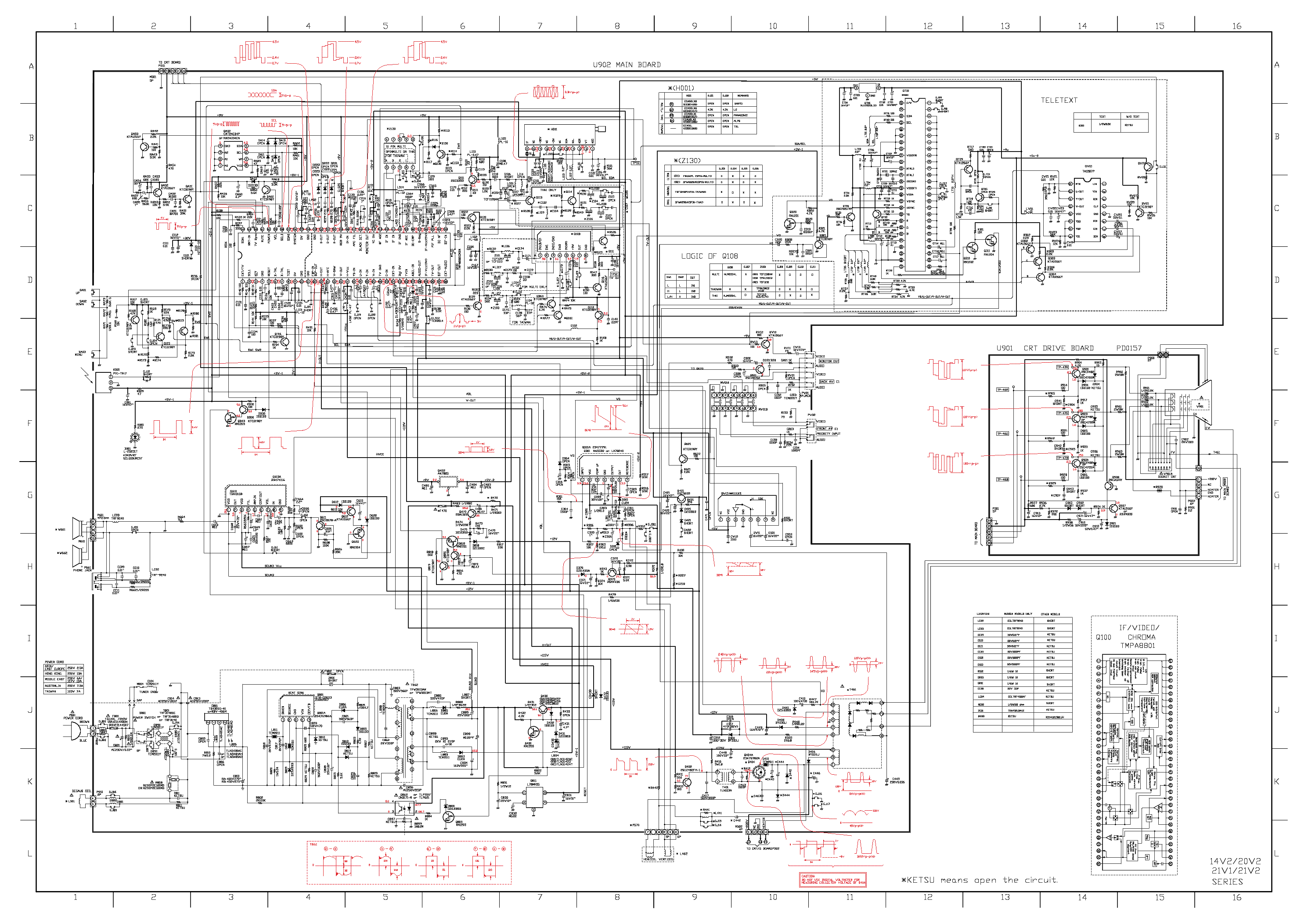 toshiba 50h81 circuit diagram 2 page preview