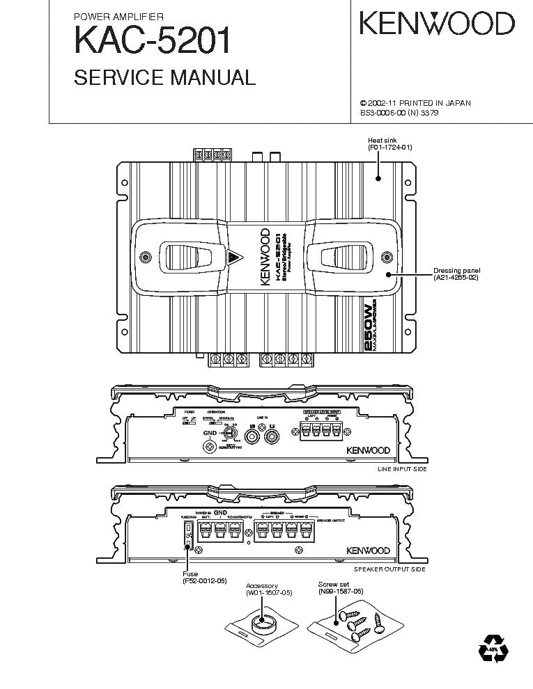 kenwood kac 819 amp wiring diagram