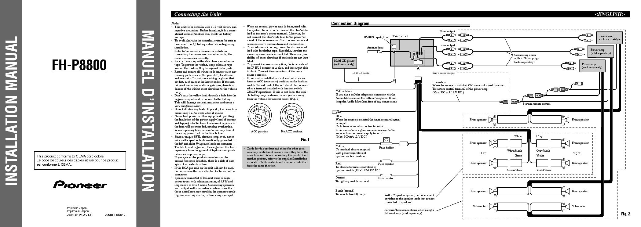 pioneer fh x700bt wiring diagram pdf