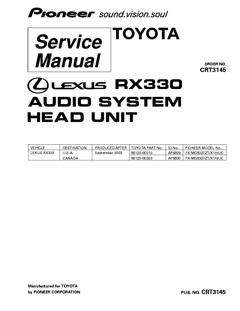 lexus rx330 manual pdf