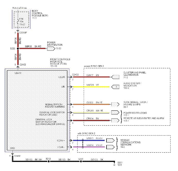 ford ka headlight wiring diagram