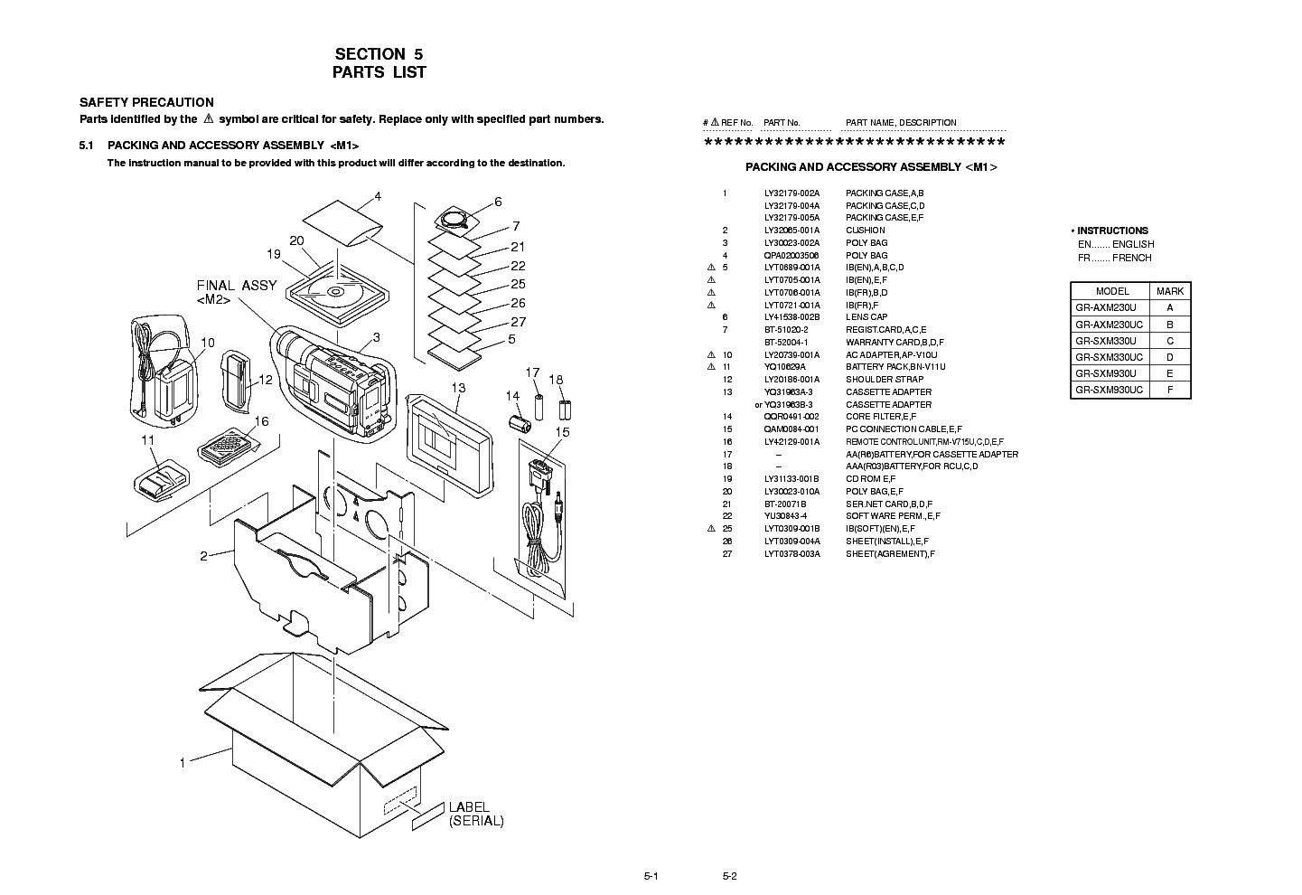 schematic diagram jvc gr axm230 gr sxm330u camcorders