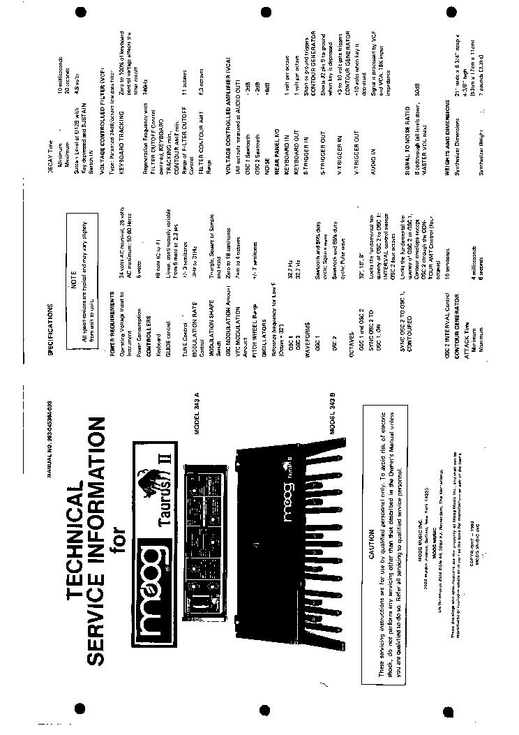 moog taurus schematics 2