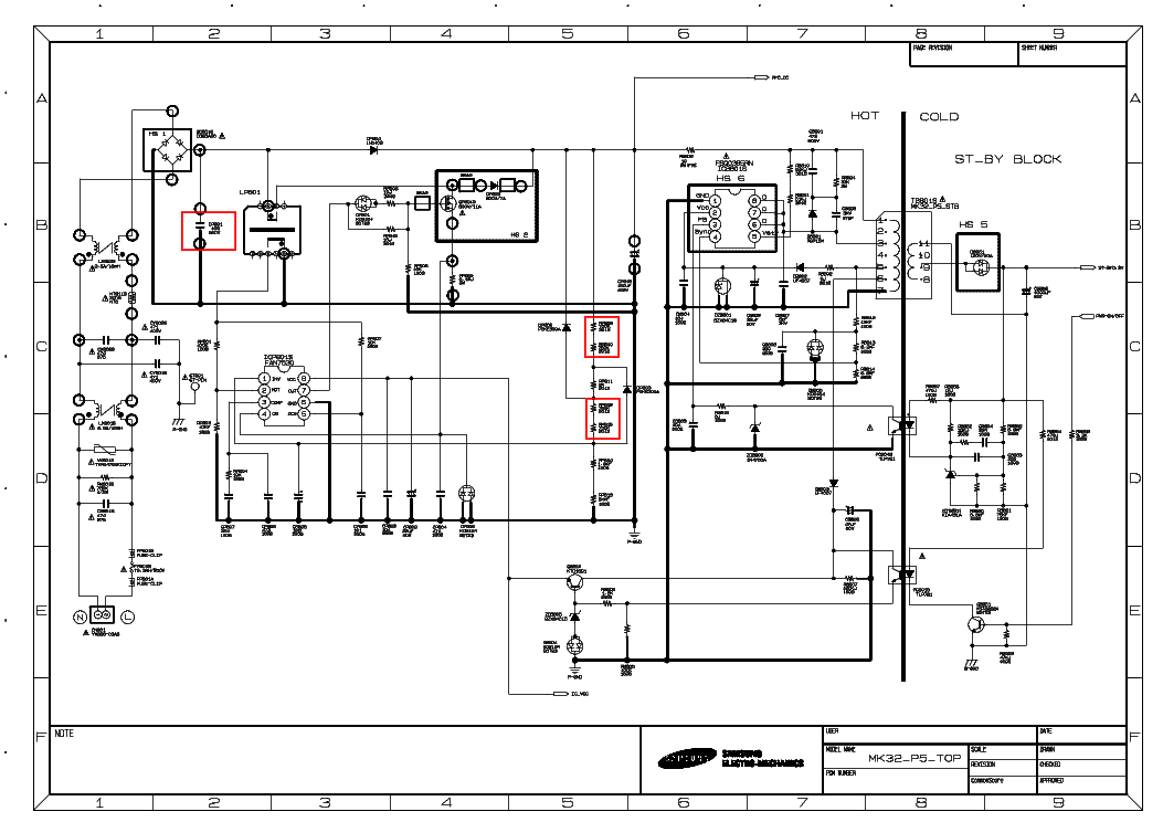 appliance electrical schematics