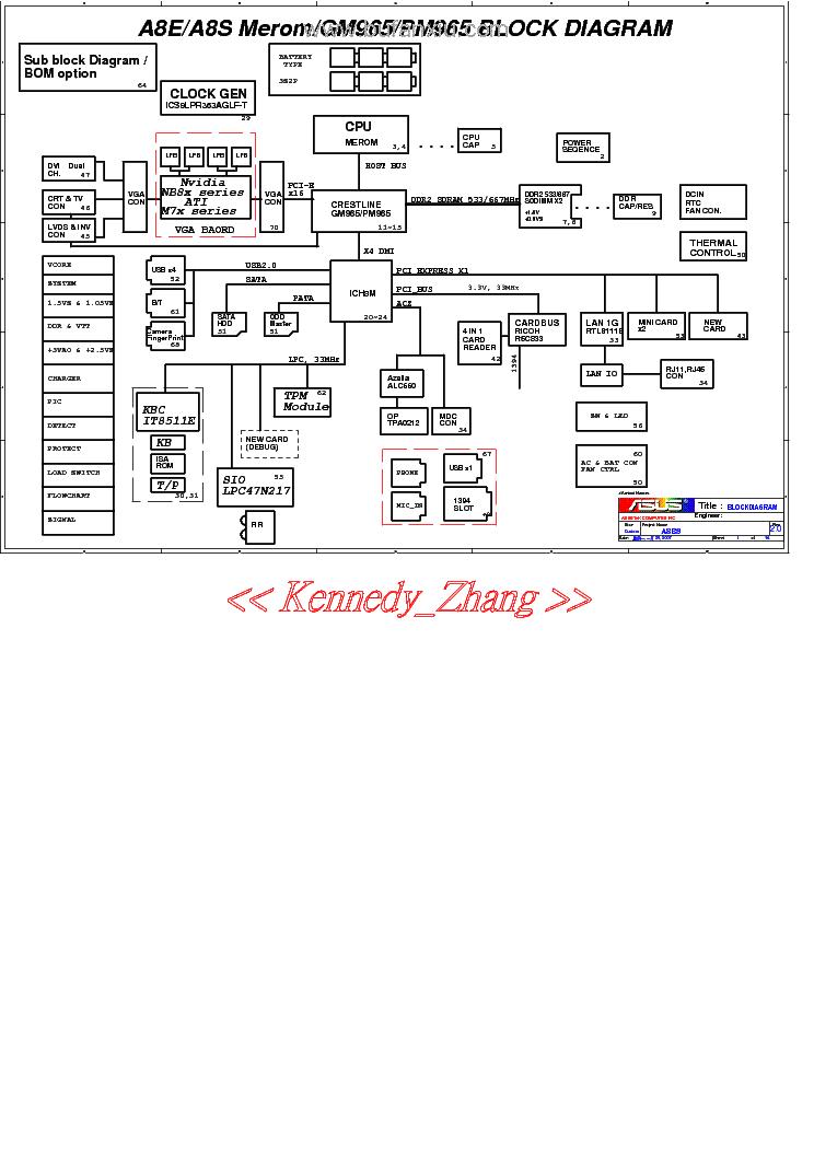 asus a8e a8s laptop schematic diagram