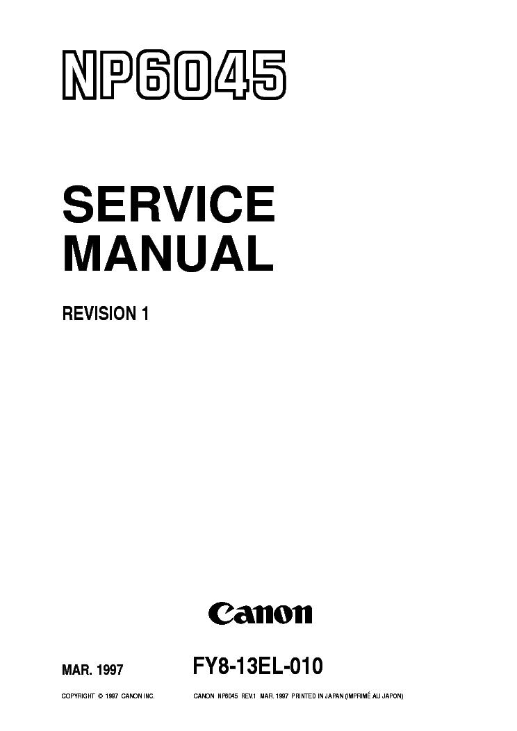 canon np6030 service manual