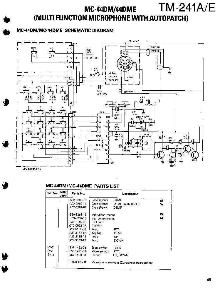 kenwood kmc 41 microphone wiring diagram
