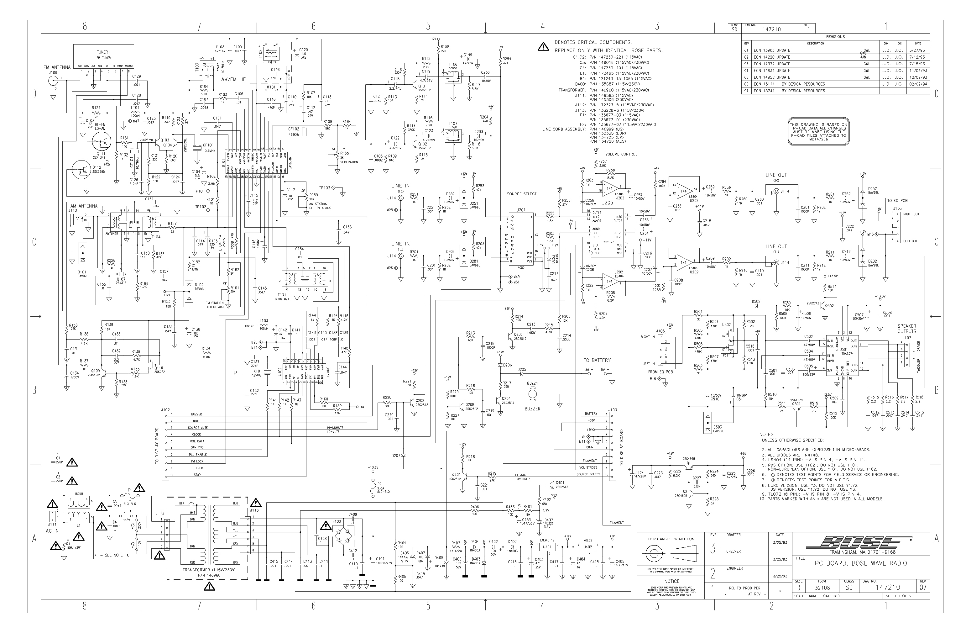 wiring schematic for bose stereo