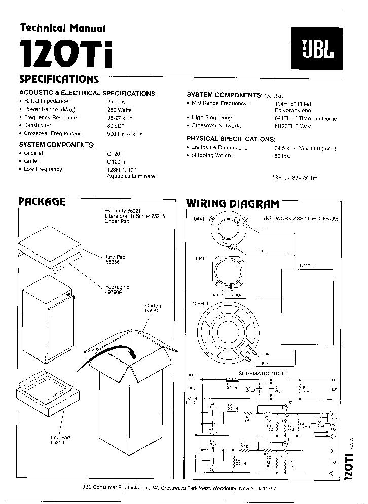 wiring diagram jbl e80