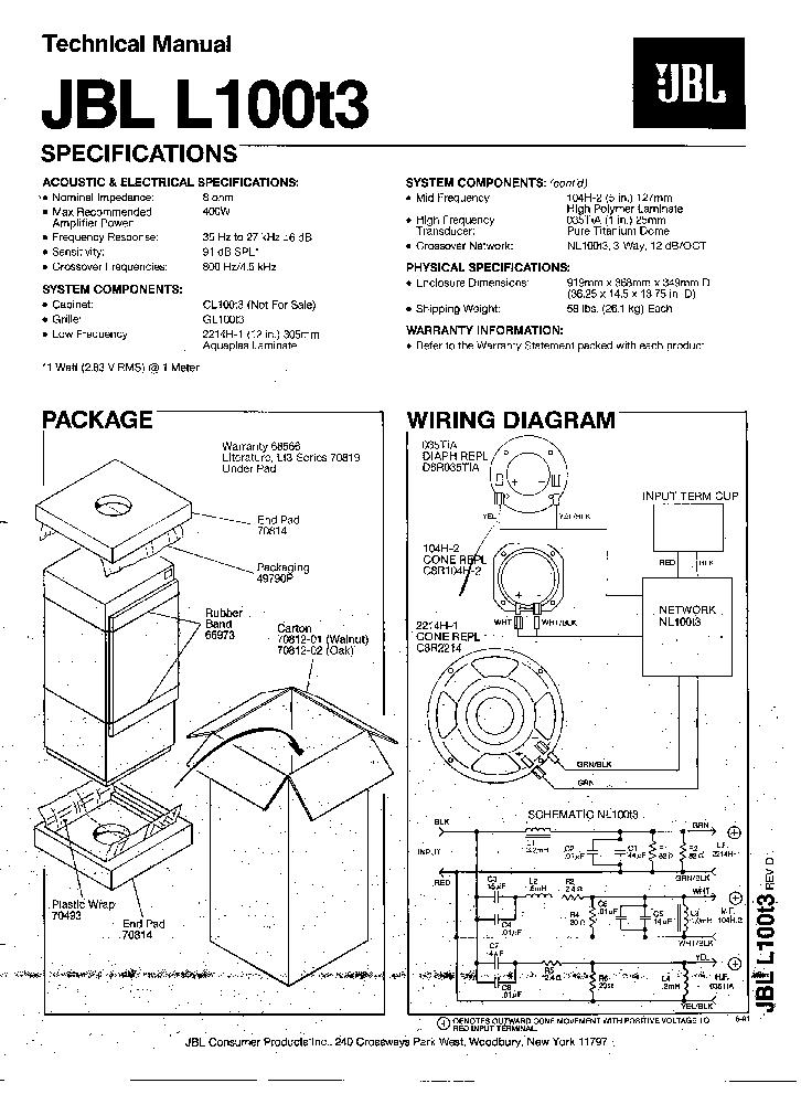jbl ledningsdiagram