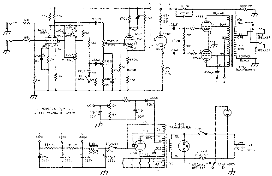 sunn beta lead amp schematics