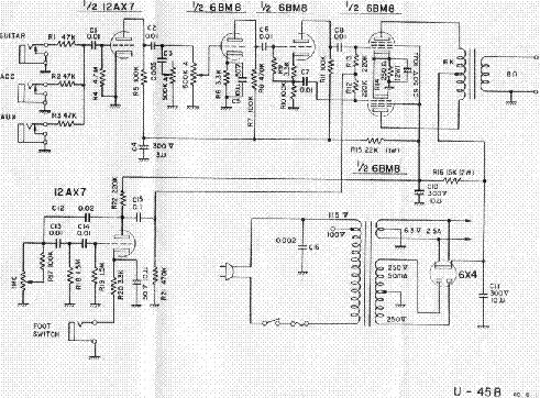 univox u 1001 schematic