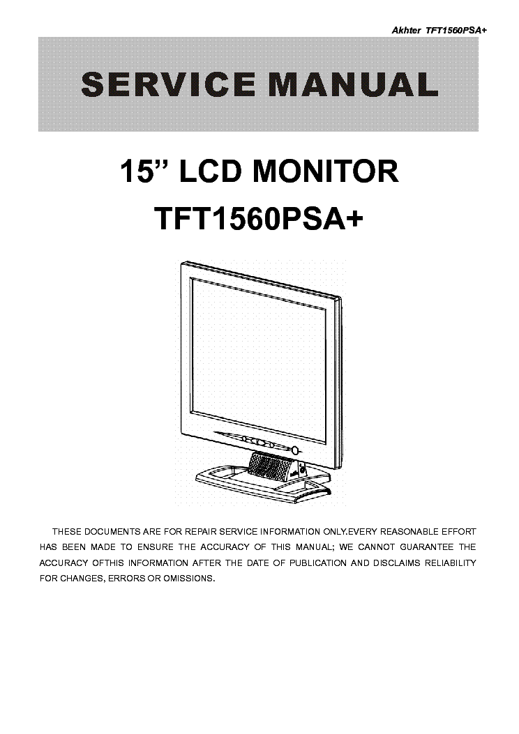 aoc tft lcd en7410 service manual