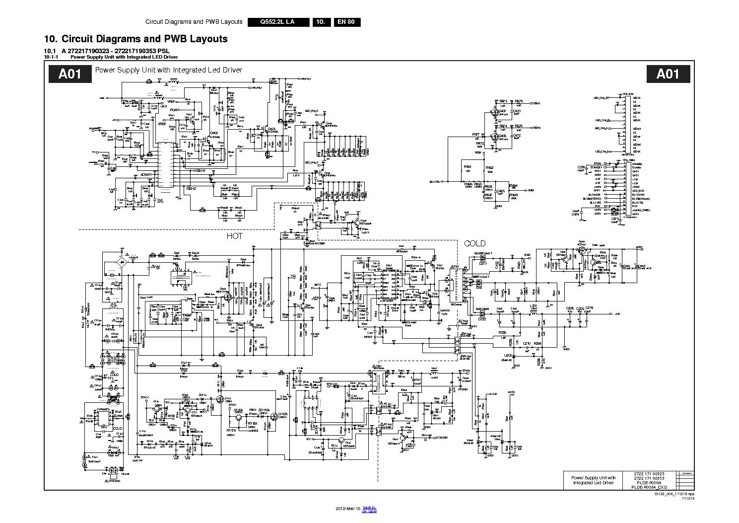 lg led tv schematic diagram