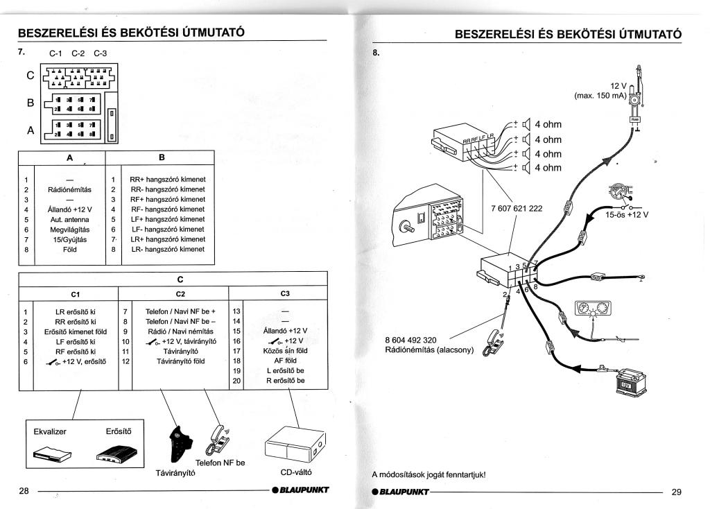 blaupunkt car 300 wiring diagram