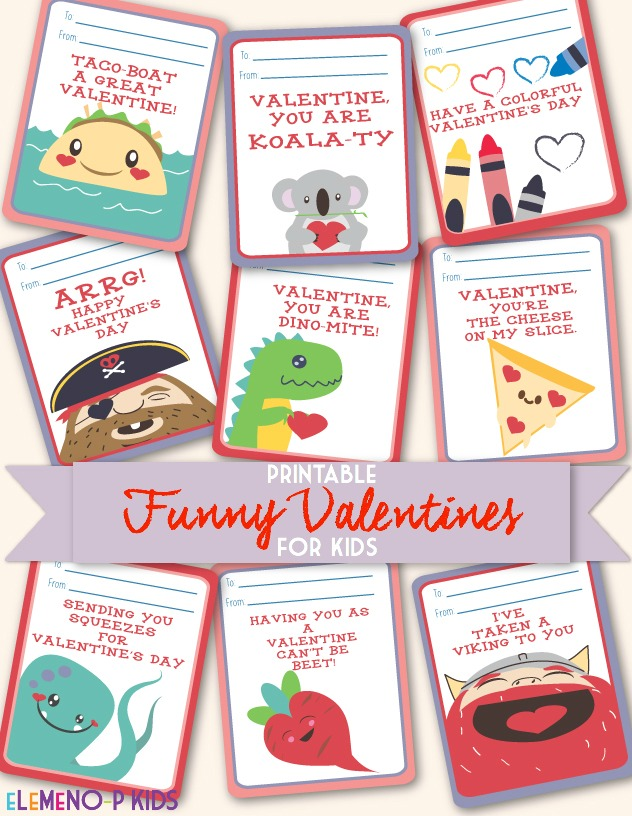 Funny Valentines Day Cards For Kids - eLeMeNO-P Kids