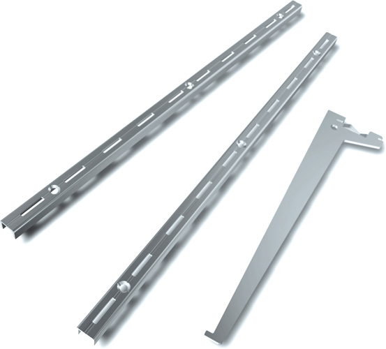 Regalsysteme Metall Schienen Wall Shelves - Uprights And Brackets - Diy Element System