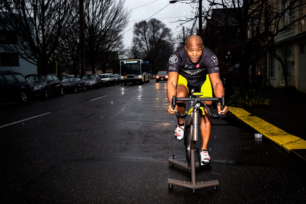Kirk Whiteman has been teaching spin class for more than 15 years. Photo: Jim Merithew/Element.ly