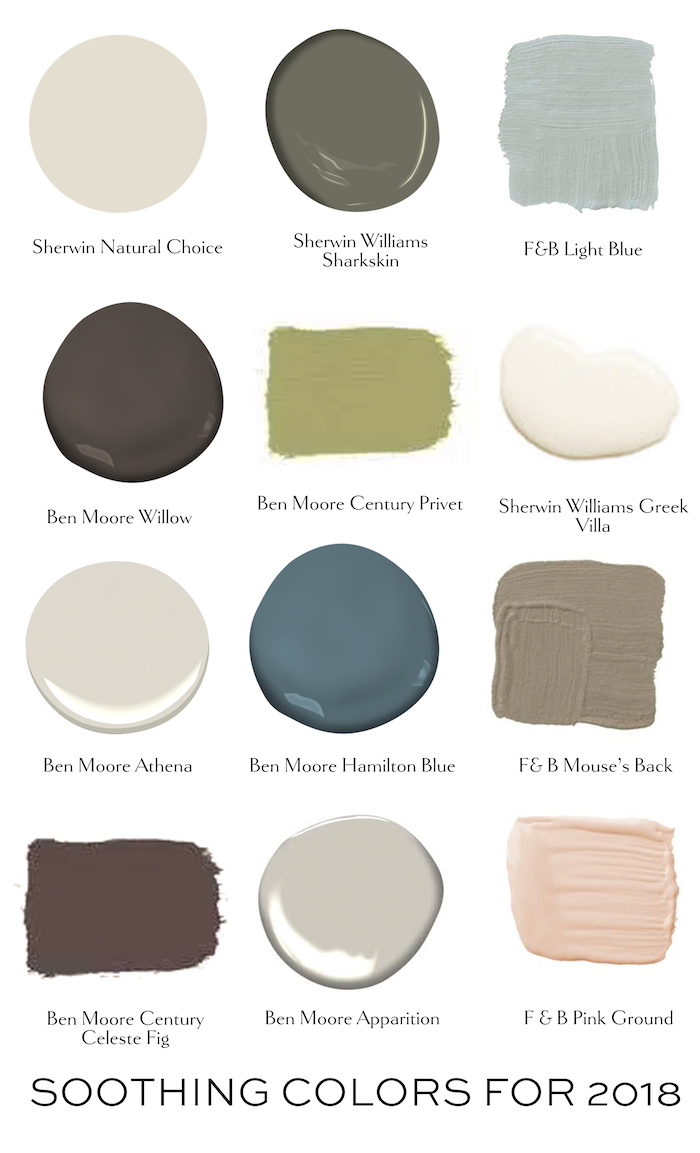 Benjamin Moore Bedroom Colors A Soothing Palette For 2018 Elements Of Style Blog