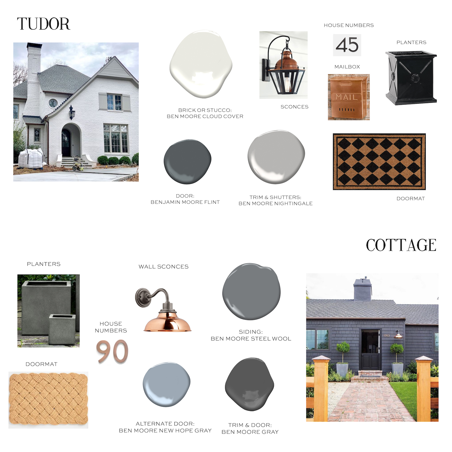 Classic But Cool Exterior Color Palettes Elements Of Style Blog