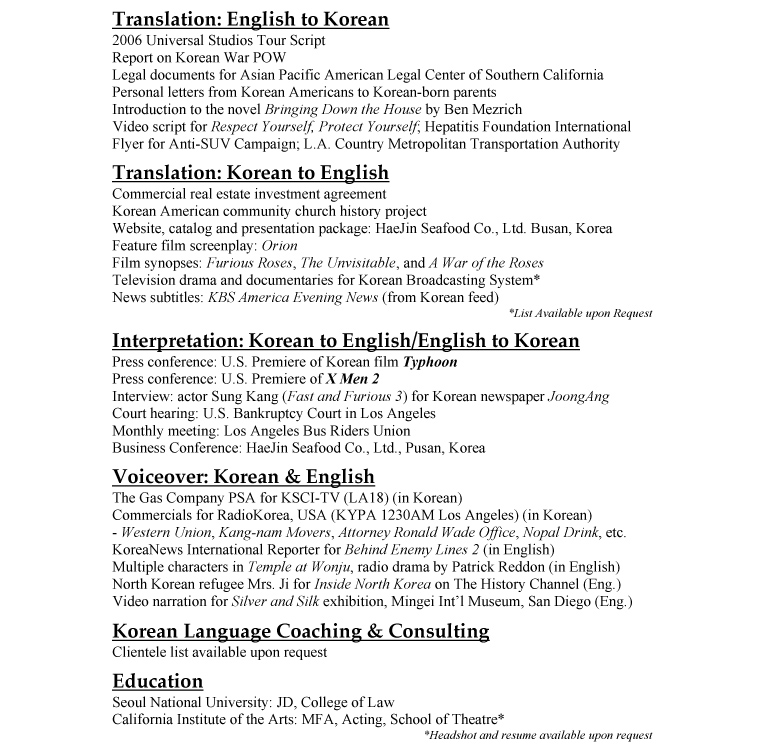 example of of legal arabic linguist resume template