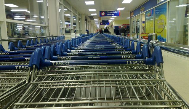 """Tesco Trolleys Slough"" by Mark Kobayashi-Hillary"