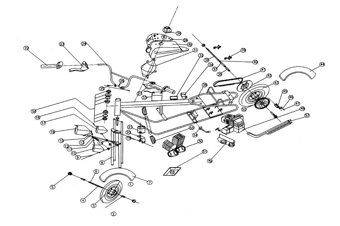 110cc atv engine parts diagram