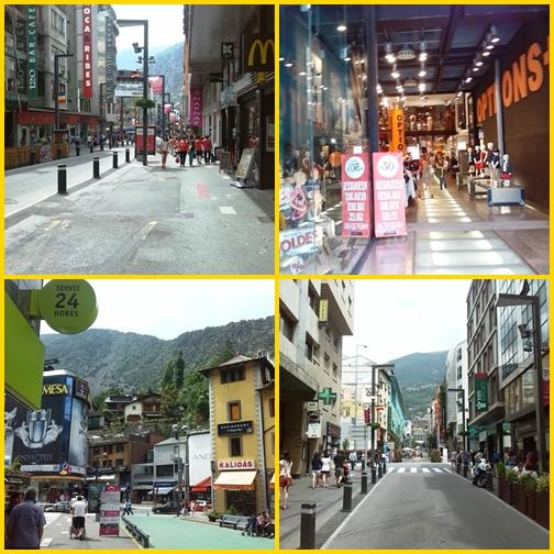 Andorra - bevasarlas andorra la vella montage