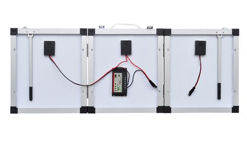napelem hordozható kivitelben 120W - hátoldal