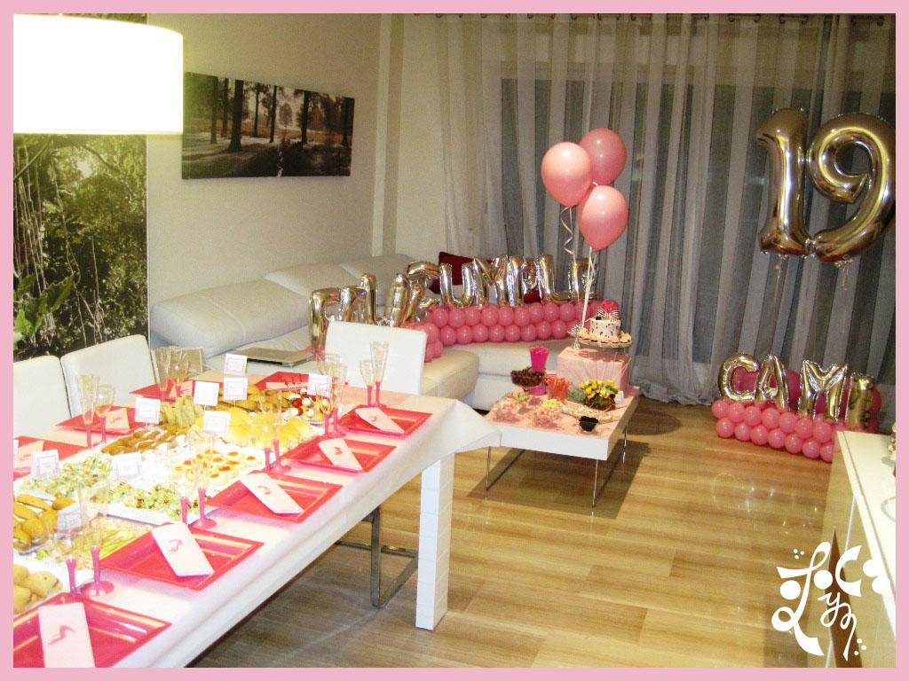 Cumplea os valencia catering y globos for Decoracion con globos para cumpleanos