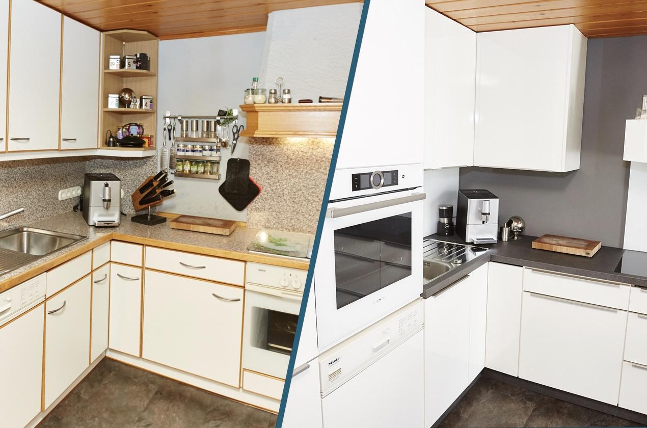 Alte Küche Neu Gestalten Vorher Nachher | Geschirrspüler Für Ikea ...