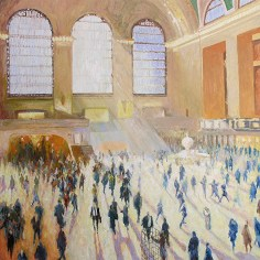 """Shadows + Light Grand Central"" oil on canvas 120 x 120 cm (48"" x 48"")"