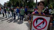 Estudiantes en Mérida protestan ante la crisis económica que atraviesa Venezuela y exigen el referendo revocatorio para destituir al presidente Nicolás Maduro.