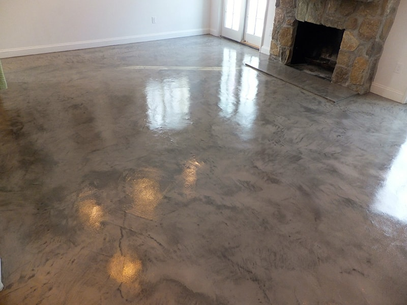 Concrete Flooring Transform Your Entryway With Venetian Plaster-style Floor