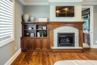 Built-in cabinetry - Bookcases, mudroom & fireplace mantel