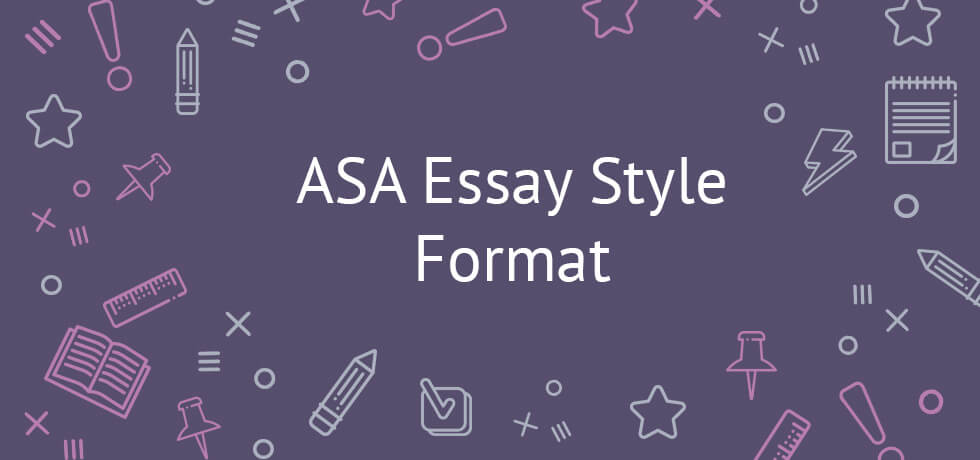 Explicit ASA Style Essay Guidelines - Asa Essay Format Example