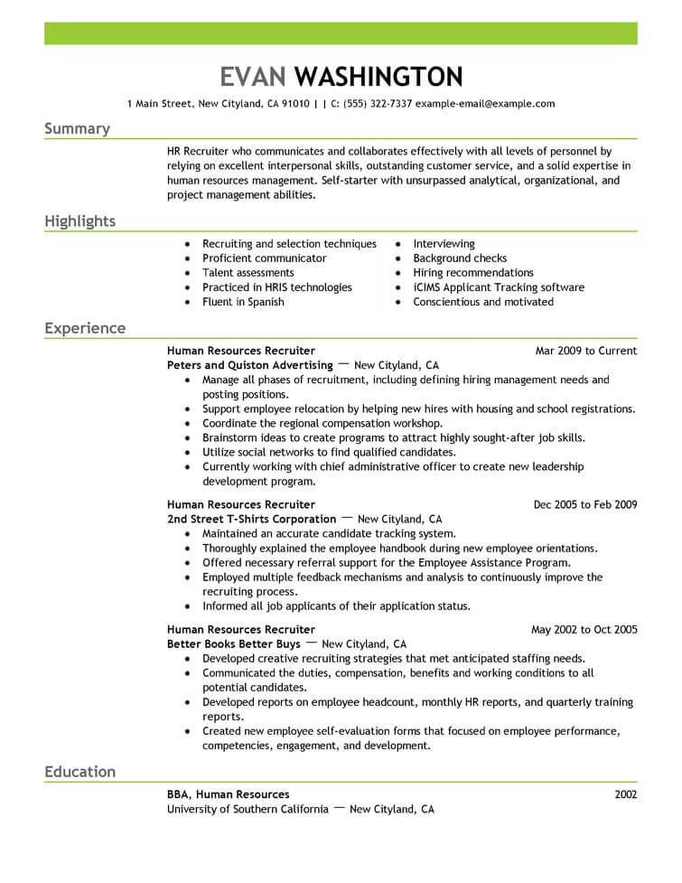 resume recruitment