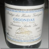 Gigondas &quot;Prestige des Hautes Garrigues&quot; 1998, Domaine Santa Duc