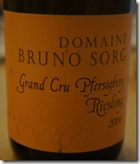 Riesling Grand Cru Pfersigberg 2004, Bruno Sorg
