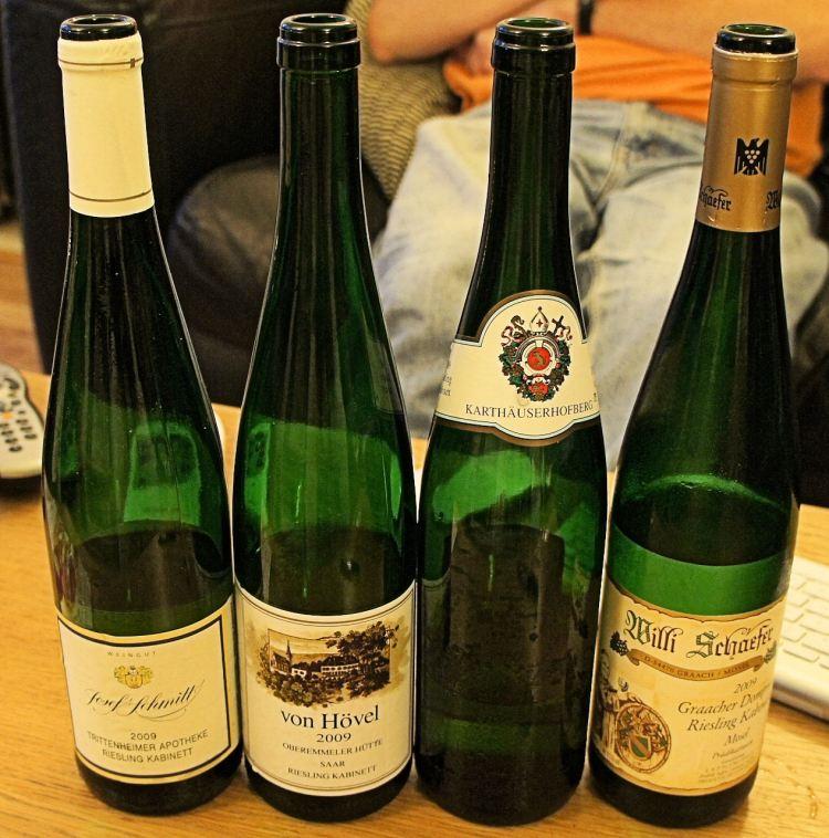 Four 2009 Mosel-Saar-Ruwer Riesling Kabinetts