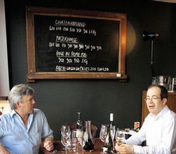 Nigel and Paul discuss the special steak board