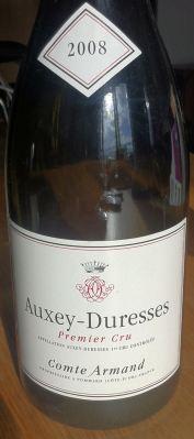 Auxey-Duresses Premier Cru 2008, Comte Armand