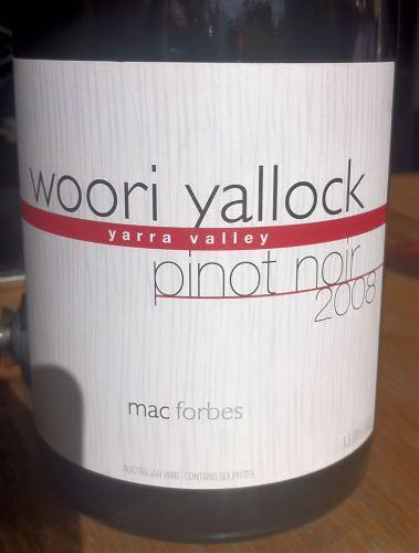 Pinot Noir 'Woori Yallock' 2008, Mac Forbes