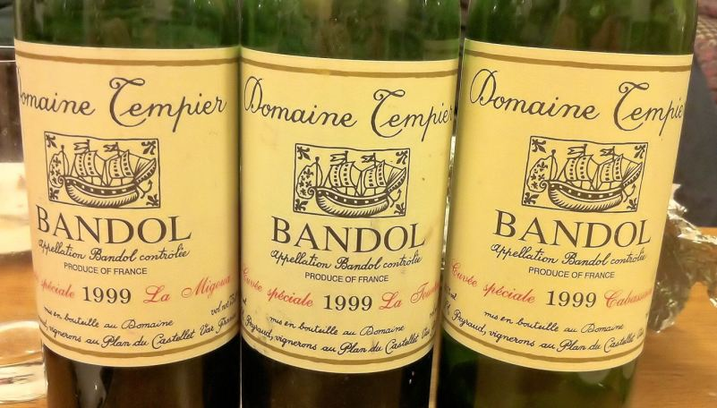 Domaine Tempier 1999 single vineyard Bandols